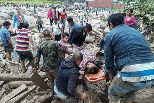 Valanga di fango in Colombia, quasi 200 morti
