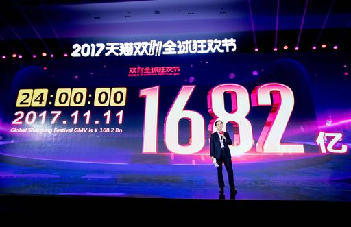 Alibaba: 12 miliardi di dollari shopping in due ore