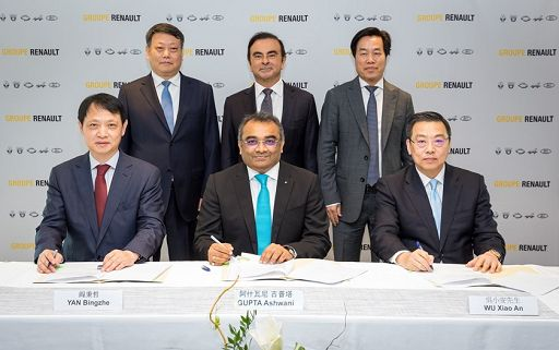 Renault e Brilliance China firmano accordo con provincia Liaoning