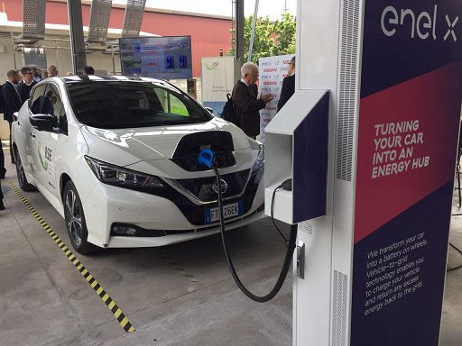 Auto elettriche come accumulatori d'energia, è il Vehicle to grid