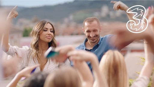 3: in TV new spot with Giorgio Chiellini and Madalina Ghenea