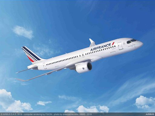 Aerei, Air France-Klm: Lettera d'intenti per 60 Airbus A220-300
